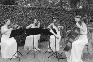 Cérémonie de mariage, chateau de la porte, Ivana String Quartet